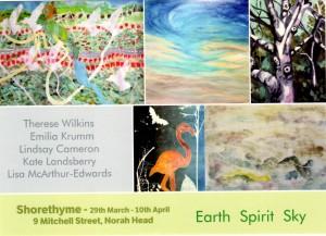 Earth Spirit Sky Exhibition Mar Apr 2106